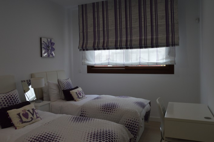 Made to measure blinds with matching bedlinen