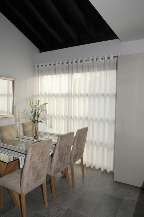 Made to measure eyelet curtains in cool linens Peraleja Golf