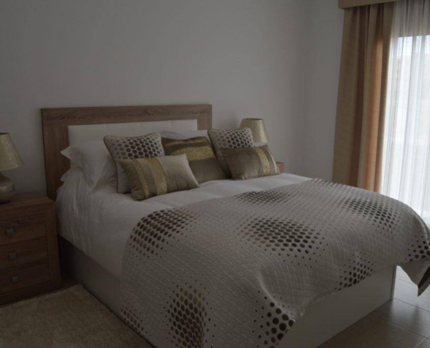 Upholstered pelmets & coordinating linen