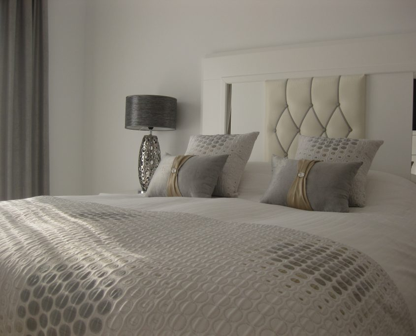 Made to measure bedding complete the look