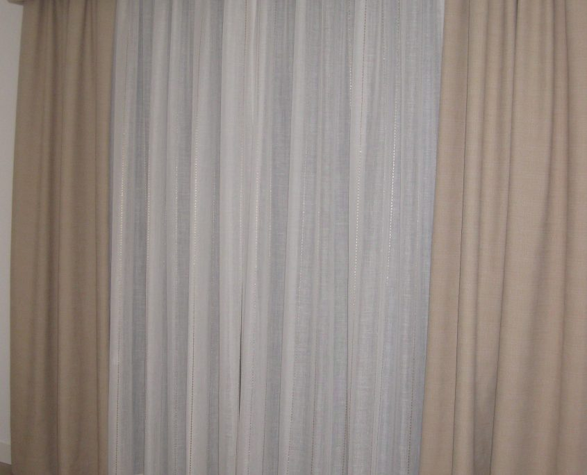 Soft golds in dress curtain & pelmet