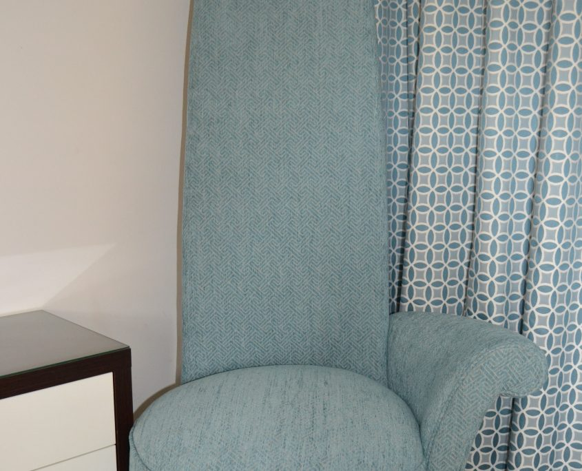 Reupholstered to compliment room